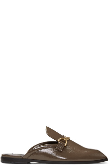 Stella McCartney - Taupe Chain Slip-On Loafers