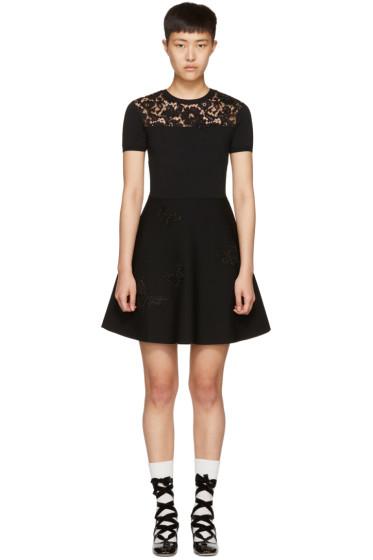 Valentino - Black Knit Butterfly Dress