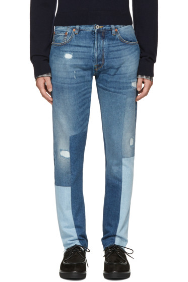 Valentino - Blue Patchwork 003 Jeans