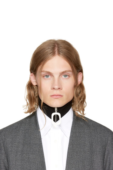 J.W. Anderson - Black Wool Neckband Collar