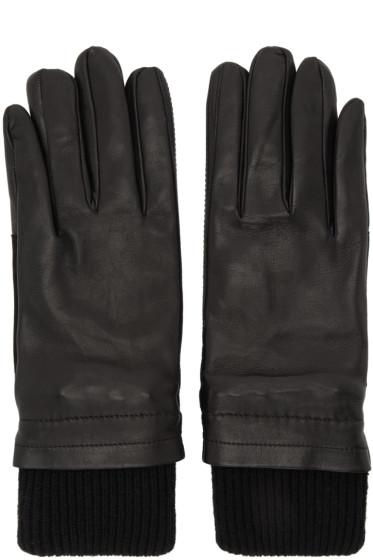 AMI Alexandre Mattiussi - Black Rib Cuff Gloves