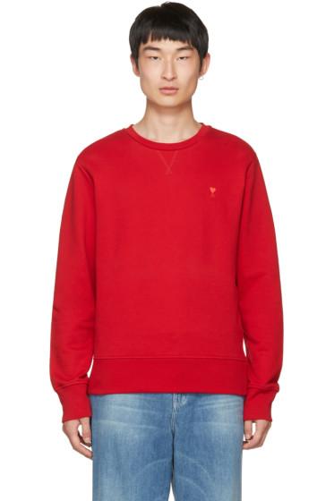 AMI Alexandre Mattiussi - Red Crewneck Sweatshirt