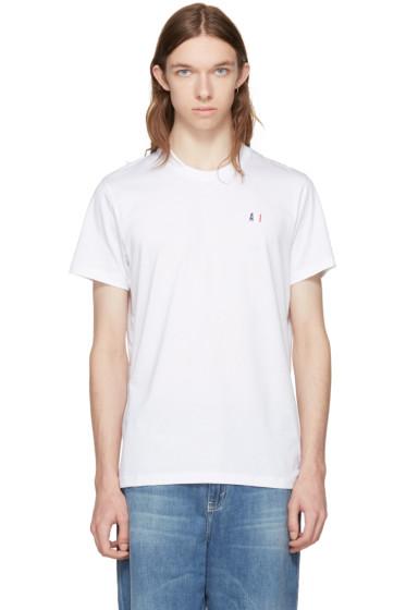 AMI Alexandre Mattiussi - White Crewneck Logo T-Shirt