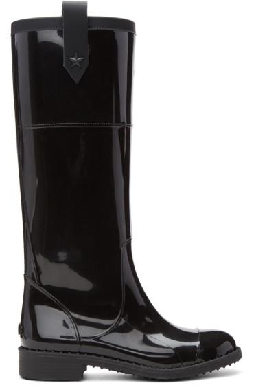 Jimmy Choo - Black Edith Rain Boots