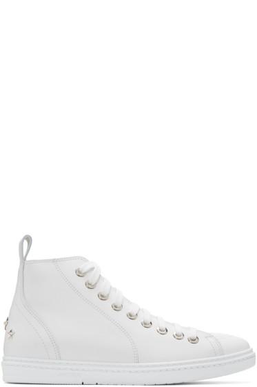 Jimmy Choo - White Star Colt High-Top Sneakers