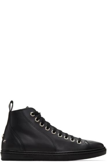 Jimmy Choo - Black Star Colt High-Top Sneakers