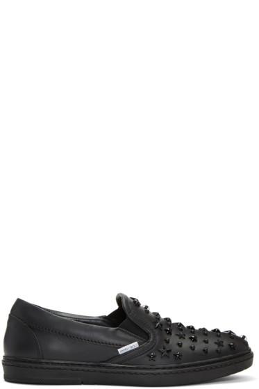 Jimmy Choo - Black Mixed Stars Grove Slip-On Sneakers