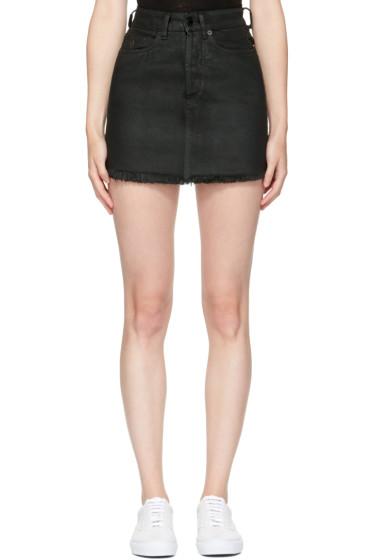 Marcelo Burlon County of Milan - Black Denim Katt Miniskirt