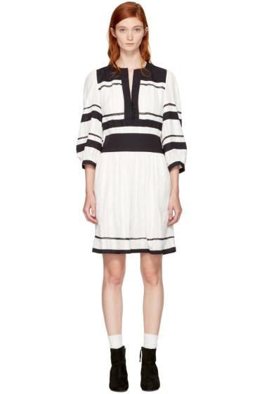 Isabel Marant Etoile - Navy & Ecru Ramsey Dress