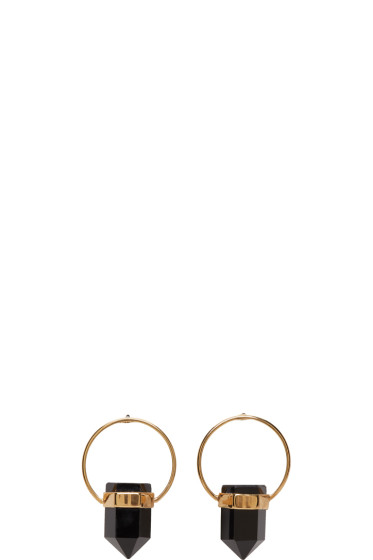 Isabel Marant - Gold & Black Stone Earrings