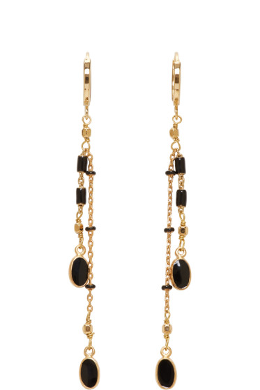 Isabel Marant - Gold & Black Chain Earrings