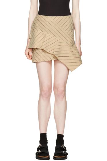 Isabel Marant - Ecru Pinstripe Kimura Miniskirt