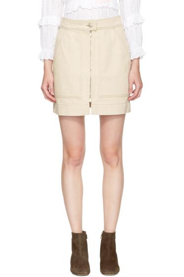 Isabel Marant - Ecru Denim Penelope Miniskirt
