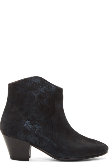 Isabel Marant - Black Suede Dicker Boots