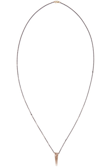 Pearls Before Swine - Gold Triple Thorn Necklace