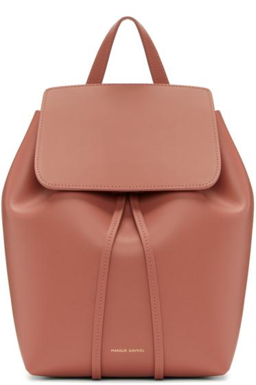 Mansur Gavriel - Pink Leather Mini Backpack