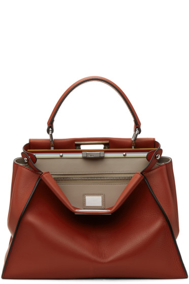 Fendi - Red Regular Peekaboo Bag