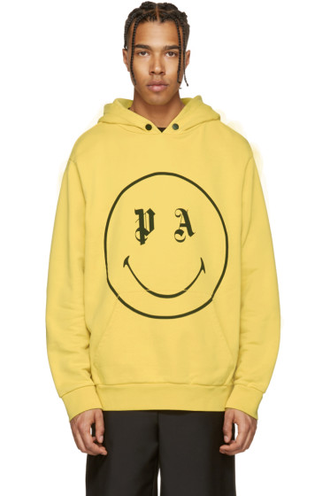 Palm Angels - SSENSE Exclusive Yellow PA Smiling Hoodie