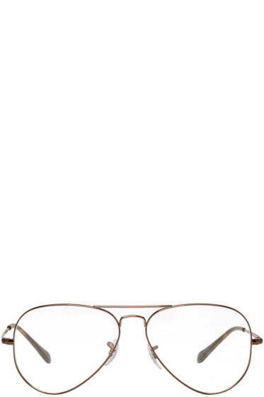 Ray-Ban - Brown Pilot Glasses