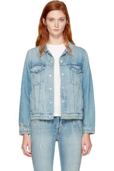 Amo - Blue Denim Pop Jacket