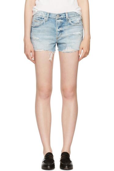 Amo - Blue Denim Tomboy Shorts