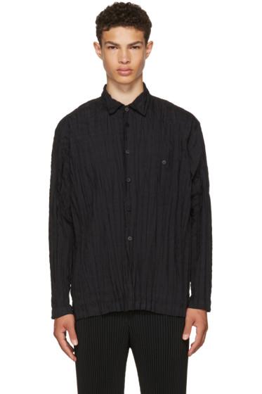 Issey Miyake Men - Black Torus Shirt