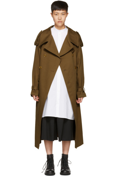 Y's - Brown Oversized Trench Coat