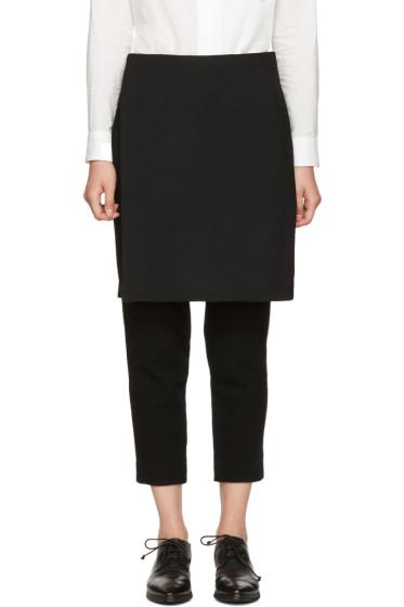 Y's - Black Wool Skirt Trousers