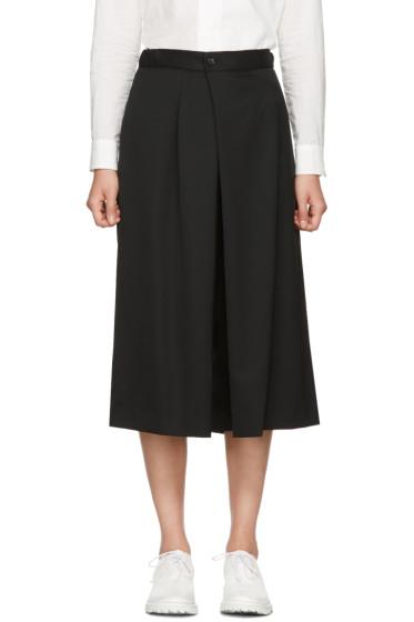 Y's - Black Wool Culottes