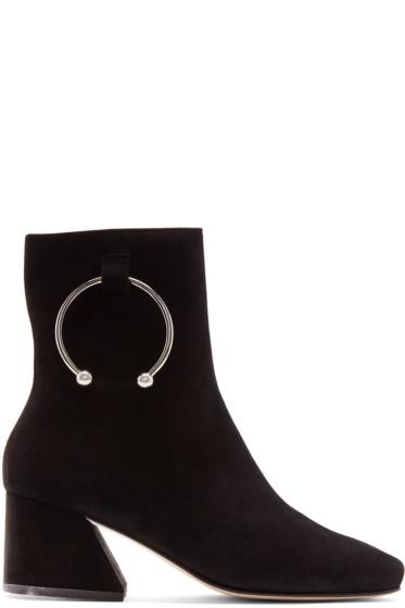 Dorateymur - ブラック スエード ニジプ ブーツ