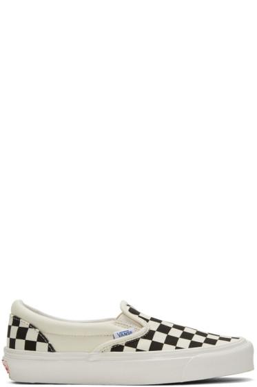 Vans - Off-White & Black Checkerboard OG Classic Slip-On Sneakers