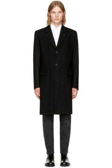 Éditions M.R  - Black Wool Classic Overcoat