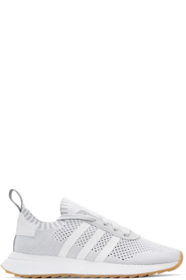 adidas Originals - White & Grey Flashback Sneakers