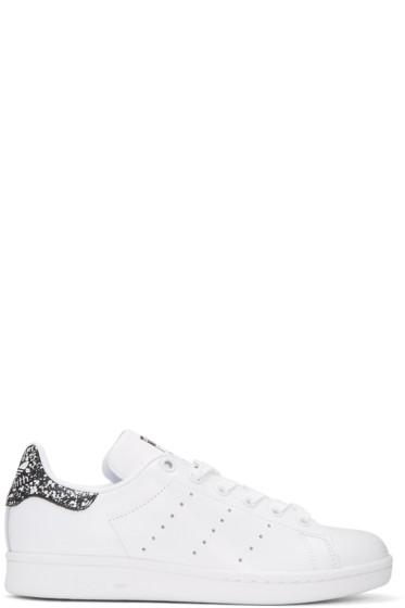 adidas Originals - White & Black Stan Smith Sneakers