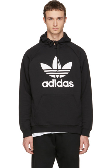 adidas Originals - Black Trefoil Logo Hoodie