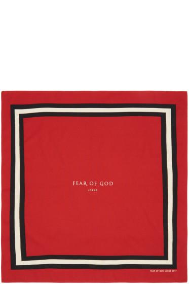 Fear of God - Red Logo Bandana