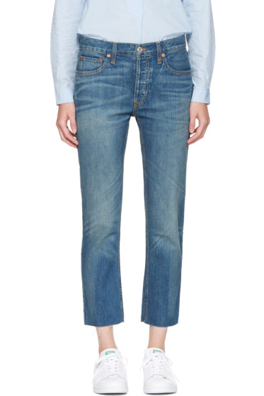 Re/Done - Indigo Relaxed Crop Jeans