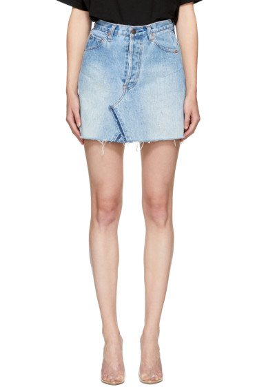Re/Done - Blue Levi's Edition Denim High-Rise Miniskirt