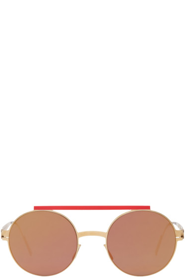 Ambush - Gold & Red Mykita Edition Verbal Sunglasses