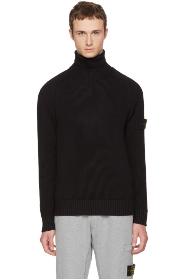 Stone Island - Black Logo Turtleneck