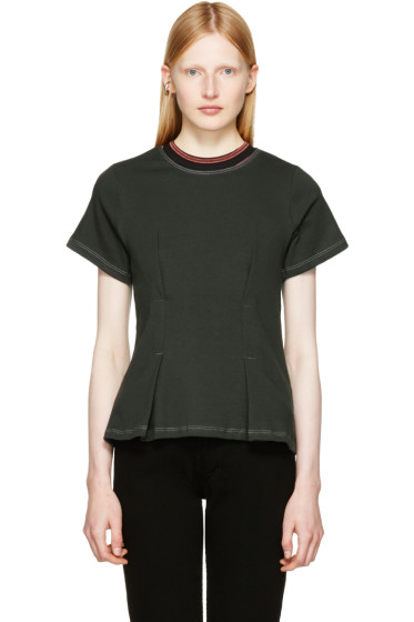 Eckhaus Latta - Black Topstitched T-Shirt