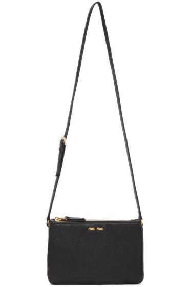 Miu Miu - Black Double Pochette Bag
