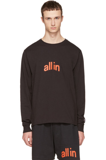 all in - Black Champion Edition Logo T-Shirt