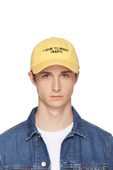 Nasaseasons - SSENSE Exclusive Yellow & Black 'I Came to Break Hearts' Cap