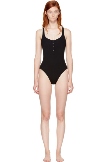Solid & Striped - Black STAUD Edition 'The Veronica' Swimsuit