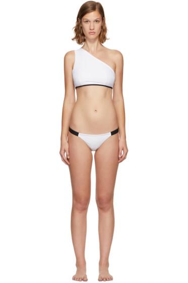 Ward Whillas - Reversible Lane Single-Shoulder Bikini Top