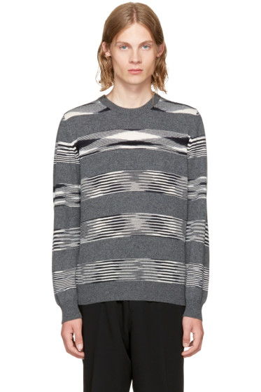 Missoni - Grey Striped Crewneck Sweater