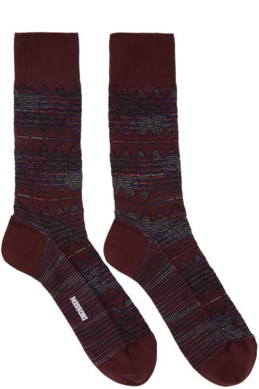 Missoni - Red Print Socks