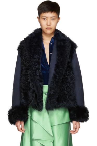 Sies Marjan - Navy Shearling Teri Jacket