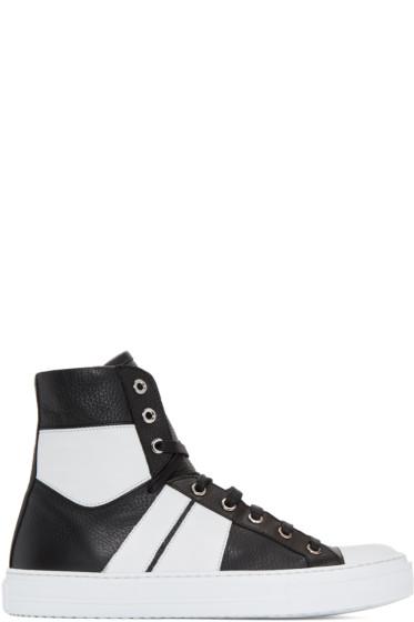 Amiri - Black & White Sunset High-Top Sneakers